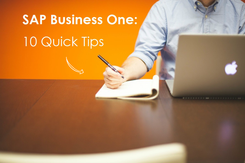 10 Quick Tips for SAP Business One